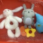 Peluches lavados a mano