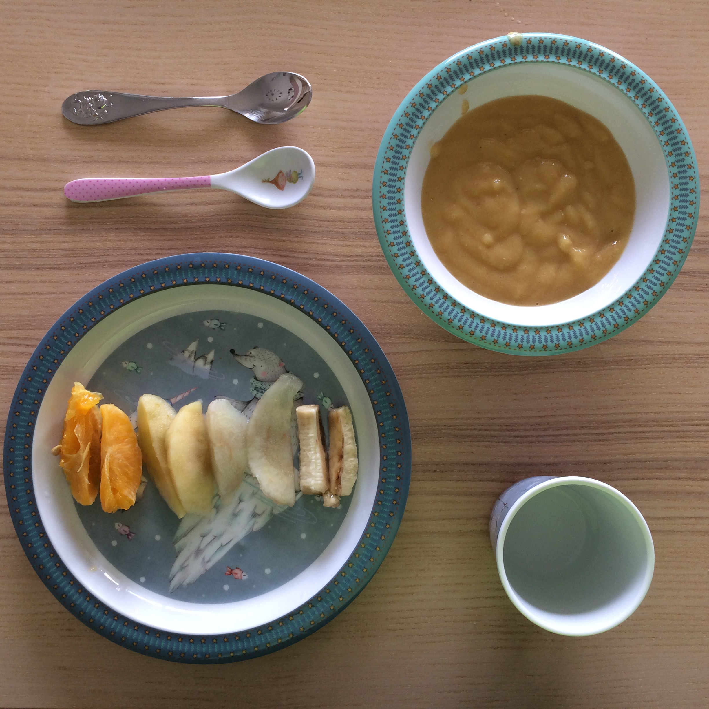 Baby Led Weaning mixto frutas y puré