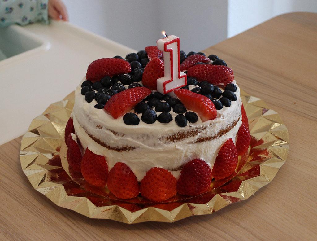 Tarta de cumpleaños para bebés